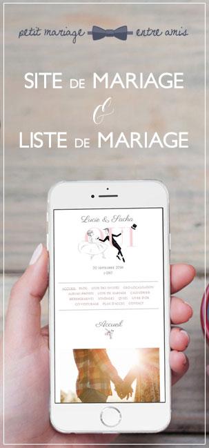site et liste de mariage